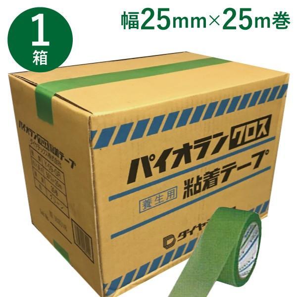《約143円/巻》養生テープ ダイヤテックス パイオランクロス(Y-09-GR) 25mm×25m (60巻) 1ケース Y09GR (SMZ)