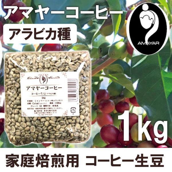 家庭焙煎用コーヒー生豆アマヤーコーヒー(1kg)まるも