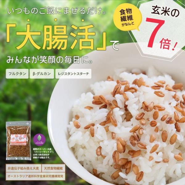 送料無料 雑穀 スーパー大麦 バーリーマックス ヘルシー 大麦 バーリーマックス 800g(400g×2) ダイエット 無添加 糖質 オフ 大腸活 食物繊維|shizennoyakata|02