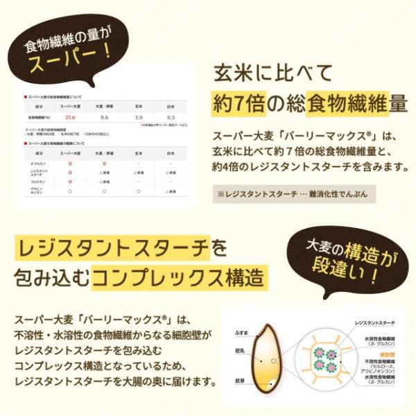 送料無料 雑穀 スーパー大麦 バーリーマックス ヘルシー 大麦 バーリーマックス 800g(400g×2) ダイエット 無添加 糖質 オフ 大腸活 食物繊維|shizennoyakata|06