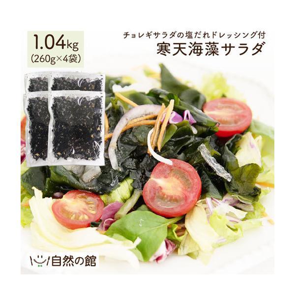 福袋 海藻サラダ まとめ買い 送料無料 寒天海藻サラダ 4袋セット 1040g(260g×4) ダイエット 業務用 SPセット|shizennoyakata