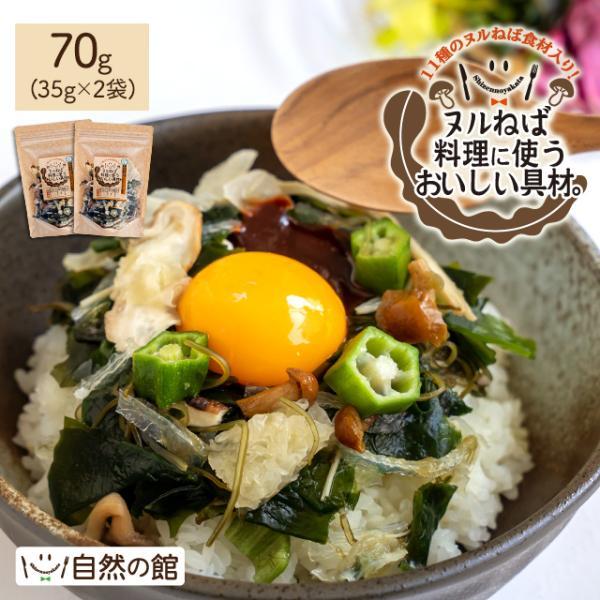 送料無料 ヌルねば料理に使うおいしい具材 40g×2 湯戻し簡単 時短 おくら ねばねば ネバネバ きのこ わかめ 海藻 サラダ 丼|shizennoyakata