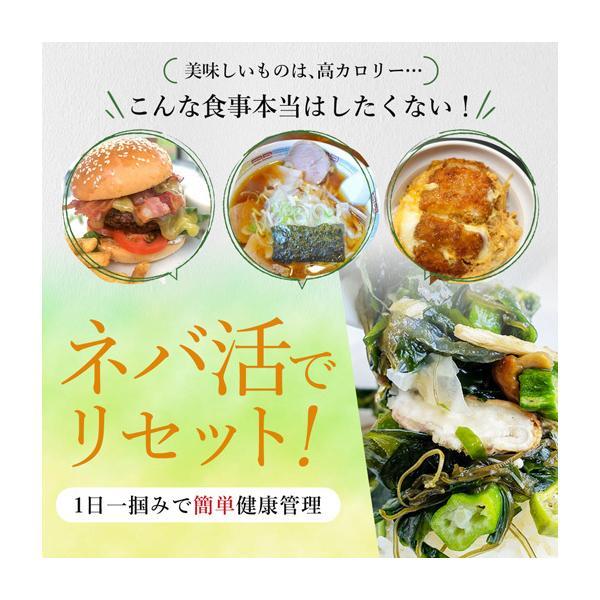 送料無料 ヌルねば料理に使うおいしい具材 40g×2 湯戻し簡単 時短 おくら ねばねば ネバネバ きのこ わかめ 海藻 サラダ 丼|shizennoyakata|02