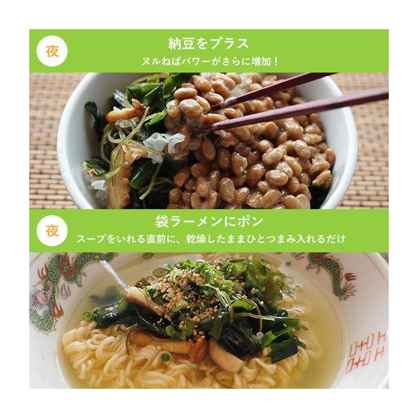 送料無料 ヌルねば料理に使うおいしい具材 40g×2 湯戻し簡単 時短 おくら ねばねば ネバネバ きのこ わかめ 海藻 サラダ 丼|shizennoyakata|06
