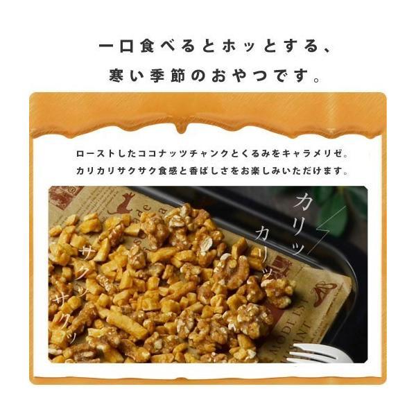 ミックスナッツ スイーツ 送料無料 ココナッツとくるみの塩キャラメリゼ 230g アーモンド ココナッツ くるみ クランベリー バナナ りんご おやつ|shizennoyakata|02