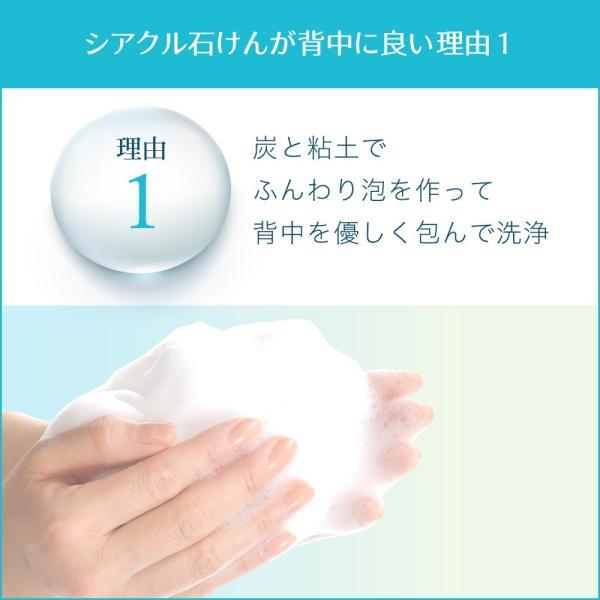 ボディーソープ 背中にきび シアクルソープ100g ニキビを防ぐ薬用石鹸 美肌 shizenshop 02