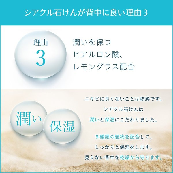 ボディーソープ 背中にきび シアクルソープ100g ニキビを防ぐ薬用石鹸 美肌 shizenshop 04