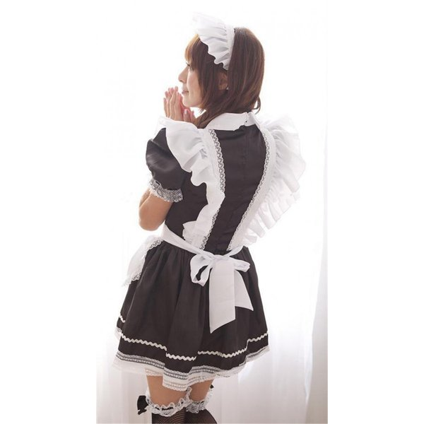メイド服 2点セット インスタ レディース Sサイズ 小さめ ハロウィン コスプレ 仮装 コスチューム 衣装 文化祭 2017年 パーティ 可愛い カフェ 制服|shizenshop|06