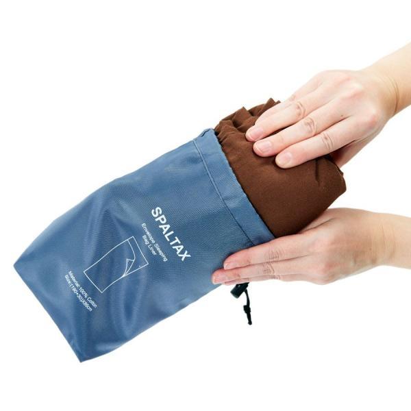 寝袋 シーツ インナーシュラフ 封筒型 超軽量 コットン インナー トラベルシーツ 洗濯可能 携帯バッグ付き スパルタックス|shizenshop|14