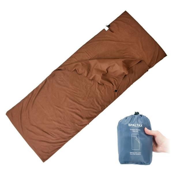 寝袋 シーツ インナーシュラフ 封筒型 超軽量 コットン インナー トラベルシーツ 洗濯可能 携帯バッグ付き スパルタックス|shizenshop|03