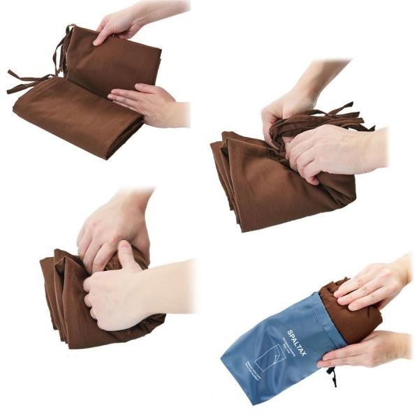 寝袋 シーツ インナーシュラフ 封筒型 超軽量 コットン インナー トラベルシーツ 洗濯可能 携帯バッグ付き スパルタックス|shizenshop|04