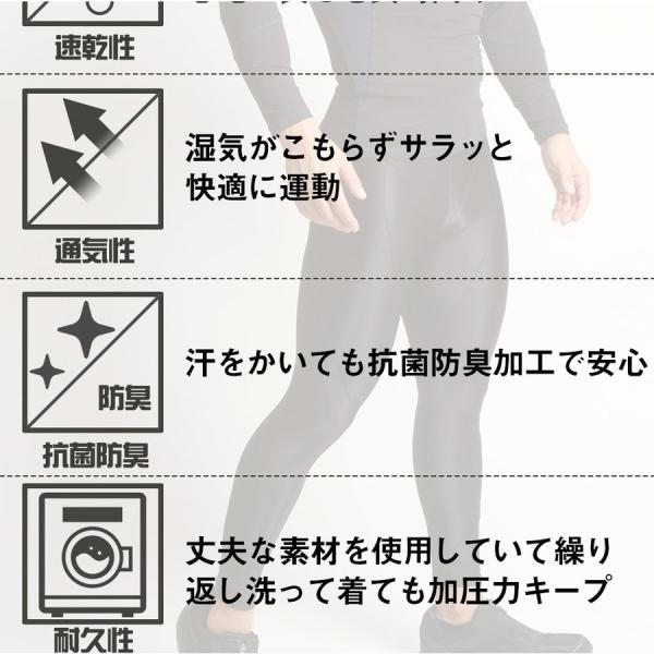 加圧パンツ 加圧ロングスパッツ 機能性インナー メンズ ロングタイツ ももひき 加圧下着 防寒 スポーツ用インナー スパルタックス|shizenshop|16