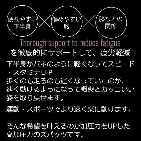 加圧パンツ 加圧ロングスパッツ 機能性インナー メンズ ロングタイツ ももひき 加圧下着 防寒 スポーツ用インナー スパルタックス|shizenshop|06