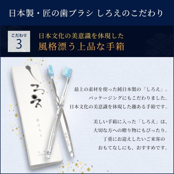 しろえ 歯ブラシ やわらかめ 2本セット ハブラシ はぶらし オーラルケア 歯磨き 歯みがき 歯 磨きやすい 1000円ポッキリ 父の日 shizenshop 04