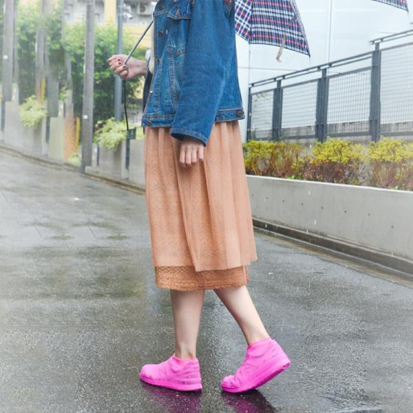 レインシューズカバー レディース メンズ シューズカバー 防水 シリコン  靴用 台風 雨 おしゃれ shizenshop 12