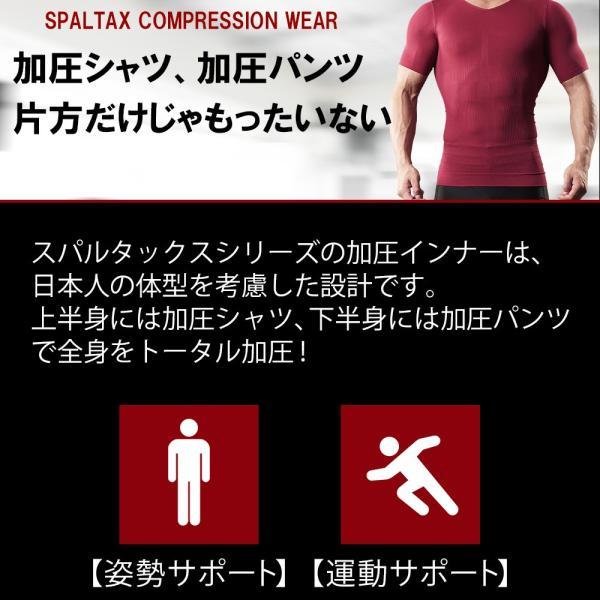 加圧シャツ 加圧スパッツ 上下セット コンプレッションウェア 筋トレ ダイエット スパルタックス|shizenshop|03