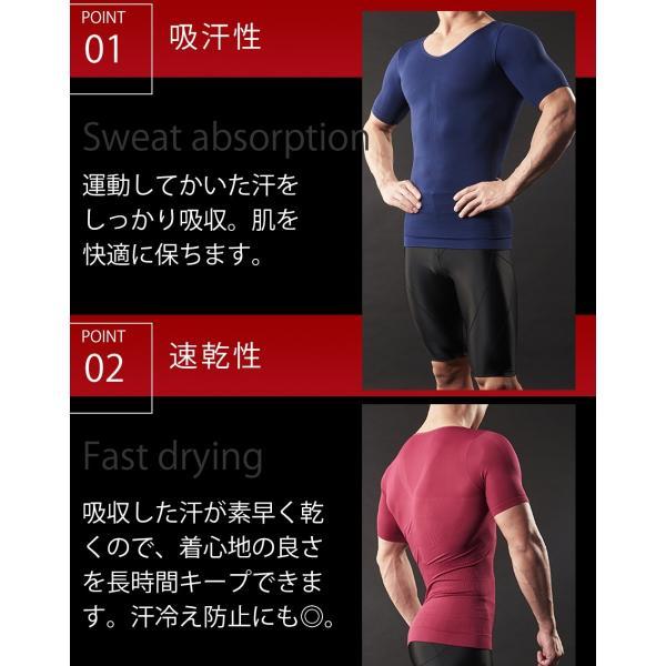 加圧シャツ 加圧インナー  男性用 上下セット 着圧 ダイエット 筋トレ スパルタックス スポーツ ウエア 上下 メンズ|shizenshop|06