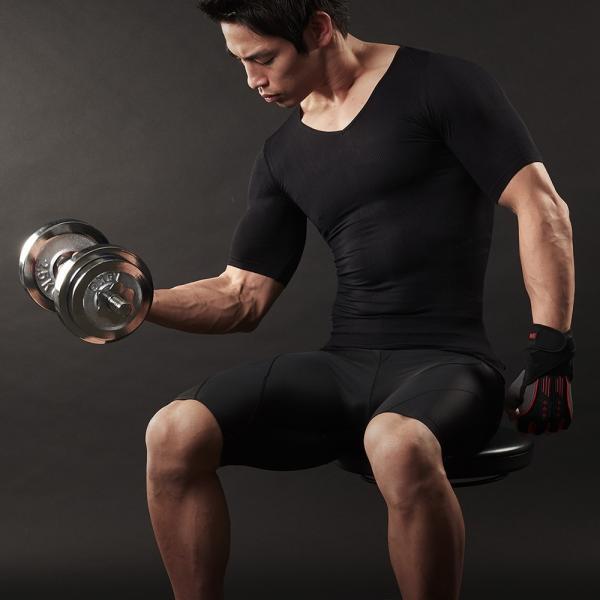 加圧シャツ 加圧インナー  男性用 上下セット 着圧 ダイエット 筋トレ スパルタックス スポーツ ウエア 上下 メンズ|shizenshop|10