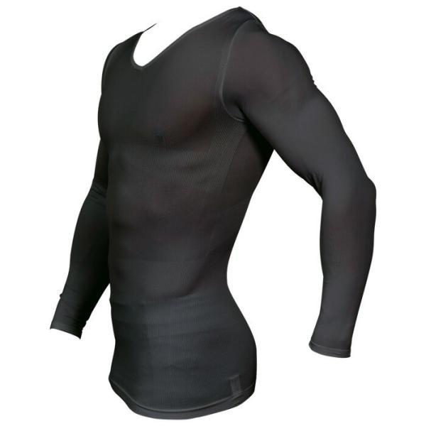 加圧シャツ 加圧インナー 着圧 姿勢矯正 着圧メンズロングTシャツ コンプレッションウェア 猫背矯正 防寒 スパルタックス|shizenshop|02