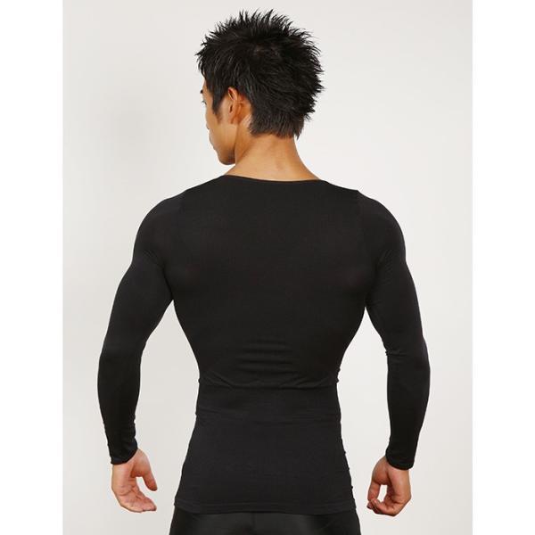 加圧シャツ 加圧インナー 着圧 姿勢矯正 着圧メンズロングTシャツ コンプレッションウェア 猫背矯正 防寒 スパルタックス|shizenshop|07