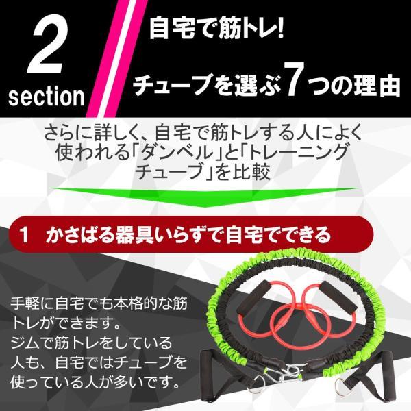 トレーニングチューブ ストレッチゴム ヨガゴム マルチチューブ&フィットネスチューブ3点セット エクササイズ 体幹 インナーマッスル スパルタックス shizenshop 07