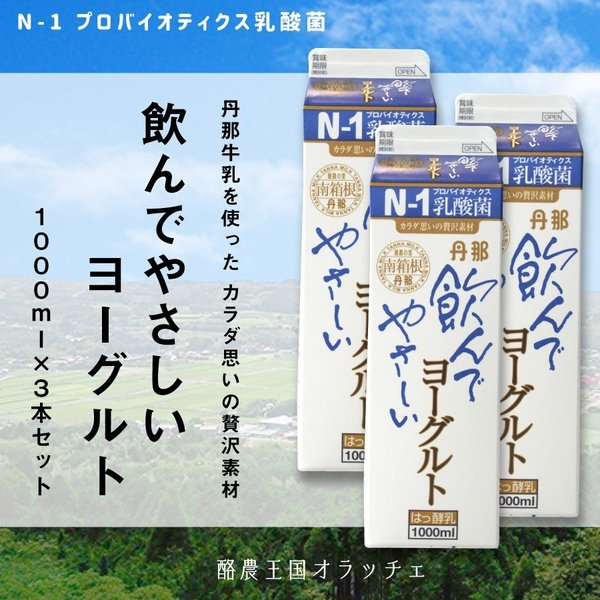 【送料込】飲んでやさしいヨーグルト 3本セット|shizumo