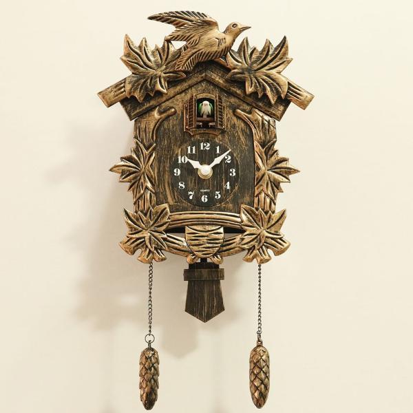 鳩時計 カッコークロック 壁掛け時計 インテリア リズム時計|sho-bai