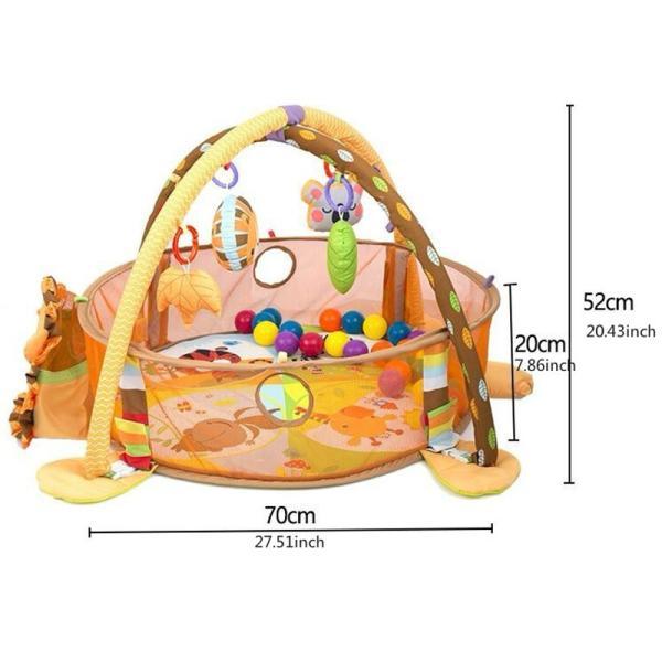 プレイマット 赤ちゃん ベビー おしゃれ 子供 ライオン Play mat|sho-bai|02