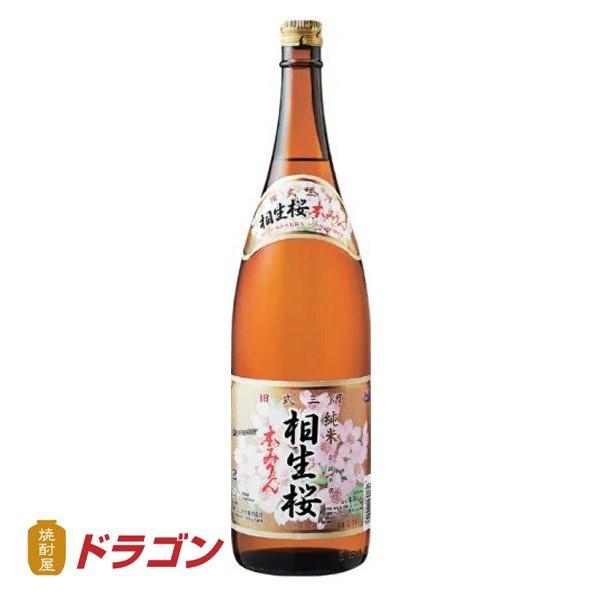送料無料/相生桜 本みりん 1.8L瓶×6本 1ケース 相生ユニビオ 調味料 あいおいさくら 1800ml