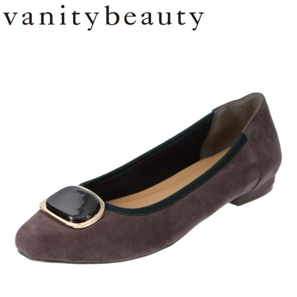 バニティービューティー vanitybeauty VA95336 レディース | パンプス | べっ甲 モチーフ | スクエアトゥ | グレースエード