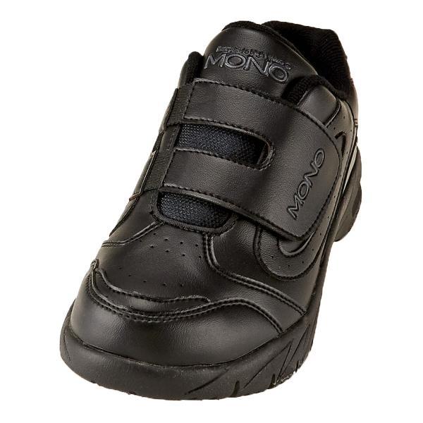 レディース スニーカー 運動靴 黒靴 マジックテープ 幅広3E シューマートオリジナル MONO モノ ブラック 黒 WMW-5532 BL
