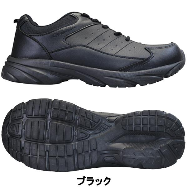 KB.STYLE K-2125BK メンズ スニーカー ブラック 3E 幅広 ファスナー付き 軽量 作業靴 ヒモ靴 shoeparkkaminari 02