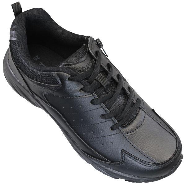 KB.STYLE K-2125BK メンズ スニーカー ブラック 3E 幅広 ファスナー付き 軽量 作業靴 ヒモ靴 shoeparkkaminari 04