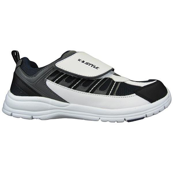 メンズ スポーツシューズ KB.STYLE 1954 白/ネイビー 3E ジョギング ランニング シューズ 幅広 軽量 お買い得 作業靴 shoeparkkaminari 02