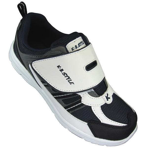 メンズ スポーツシューズ KB.STYLE 1954 白/ネイビー 3E ジョギング ランニング シューズ 幅広 軽量 お買い得 作業靴 shoeparkkaminari 05
