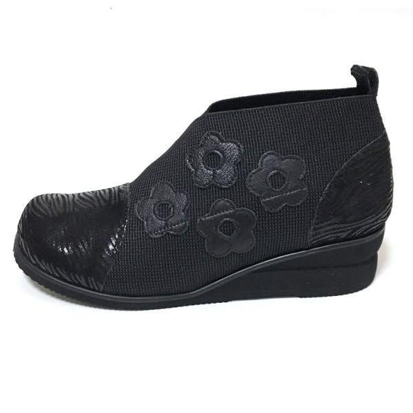 本革ストレッチブーツ 歩きやすい 幅広4e コンフォートシューズ 日本製 手作り 高級本革婦人靴  4e 歩きやすい  母の日 プレゼント 60代 50代