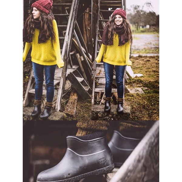 レインブーツスノーブーツ  滑らない靴 長靴 防滑 防寒 防水 レディース メンズ ショート【UNI】|shoes-garage|02