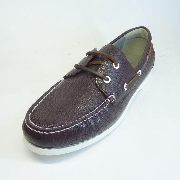リーガル 靴 メンズ REGAL 55TR-AF ダークブラウン 本革シュリンクレザー デッキシューズ