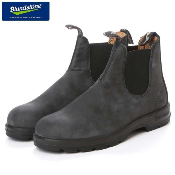 ブランドストーン Blundstone BS587 056 (ユニセックス) ラスティックブラック(オイルレザー)