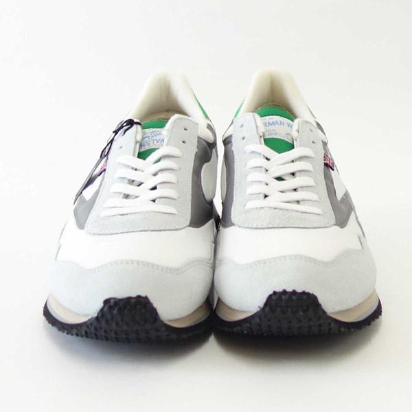 WALSH ウォルシュ ENC71005(ユニセックス) Ensign Classic カラー:ホワイト/グレー/グリーン(英国製)  スエード&ナイロンのランニングスニーカー|shoes-sinagawa|02