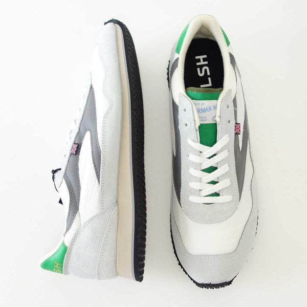 WALSH ウォルシュ ENC71005(ユニセックス) Ensign Classic カラー:ホワイト/グレー/グリーン(英国製)  スエード&ナイロンのランニングスニーカー|shoes-sinagawa|03