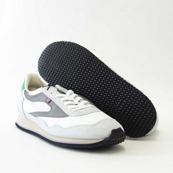WALSH ウォルシュ ENC71005(ユニセックス) Ensign Classic カラー:ホワイト/グレー/グリーン(英国製)  スエード&ナイロンのランニングスニーカー|shoes-sinagawa|04