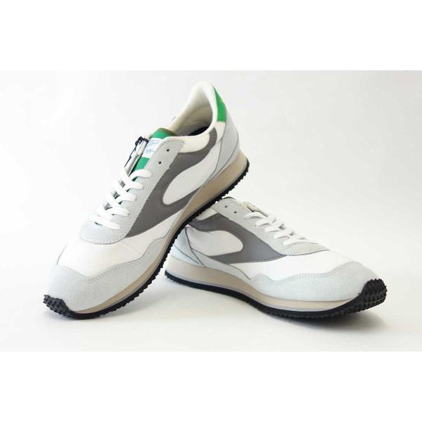 WALSH ウォルシュ ENC71005(ユニセックス) Ensign Classic カラー:ホワイト/グレー/グリーン(英国製)  スエード&ナイロンのランニングスニーカー|shoes-sinagawa|06