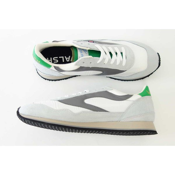 WALSH ウォルシュ ENC71005(ユニセックス) Ensign Classic カラー:ホワイト/グレー/グリーン(英国製)  スエード&ナイロンのランニングスニーカー|shoes-sinagawa|07