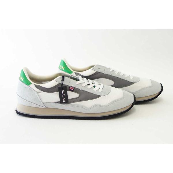 WALSH ウォルシュ ENC71005(ユニセックス) Ensign Classic カラー:ホワイト/グレー/グリーン(英国製)  スエード&ナイロンのランニングスニーカー|shoes-sinagawa|08