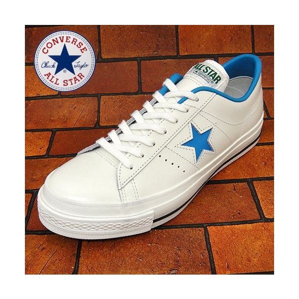 コンバース ワンスター J  OX ホワイト/ブルー|shoes-sneakerkawa