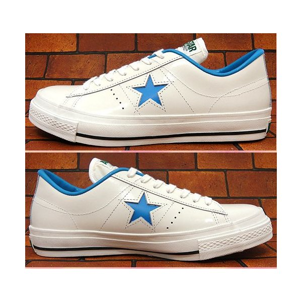 コンバース ワンスター J  OX ホワイト/ブルー|shoes-sneakerkawa|02