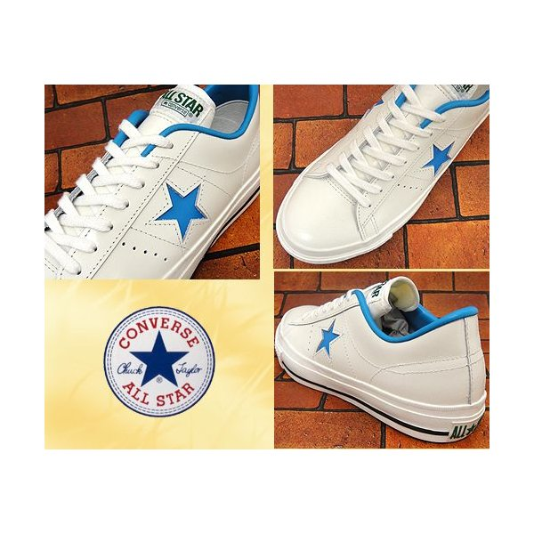 コンバース ワンスター J  OX ホワイト/ブルー|shoes-sneakerkawa|03