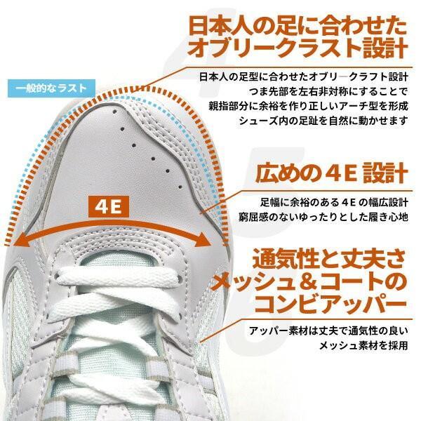 白スニーカー 運動靴 メンズ レディース ASAHI アサヒシューズ グリッパー38|shoesbase|03