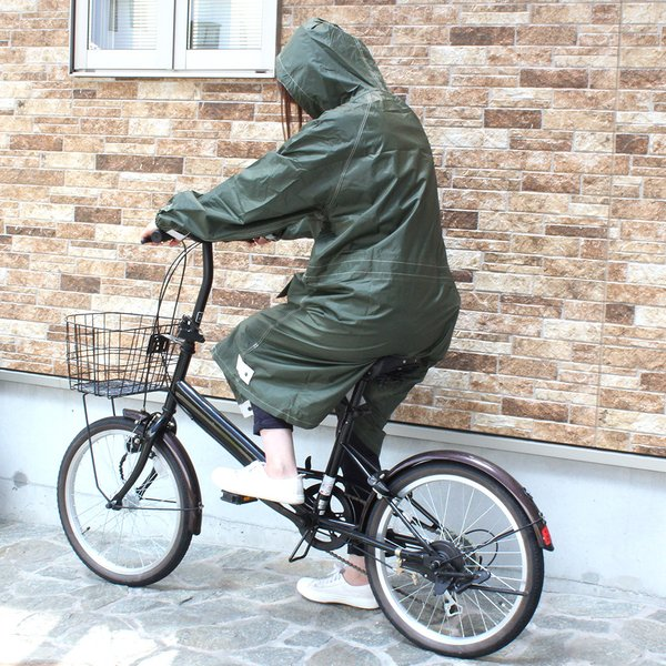 レインコート パーカー トオケミ 自転車 通勤 カッパ|shoesclubc|04